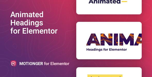 Motionger – Animated Heading for Elementor