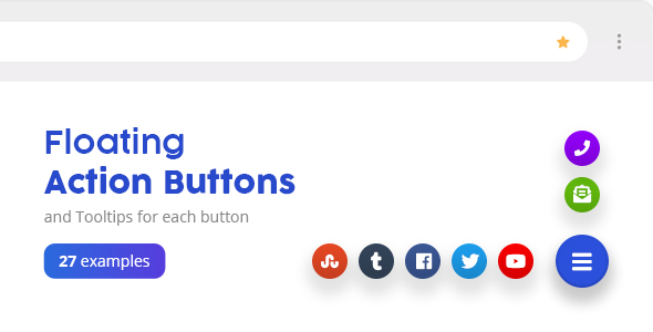 Floating Action Buttons - Pure CSS3