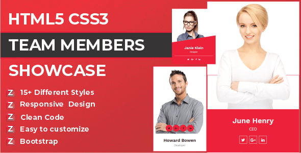 Zep - HTML5 CSS3 Team Members Template