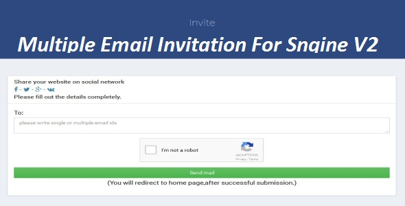 Multiple Email Invitation For Sngine