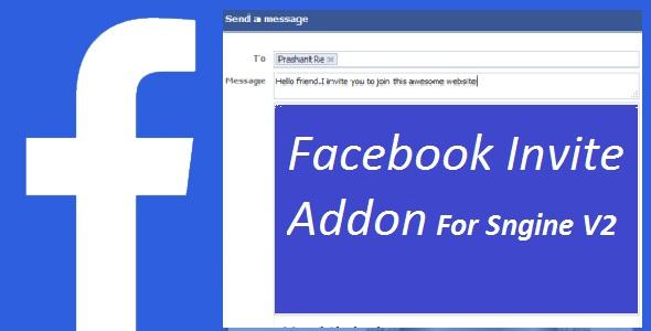 Facebook Invite Addon For Sngine