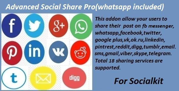 Advanced Social Share Pro for Socialkit