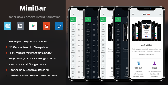 MiniBar | PhoneGap & Cordova Mobile App