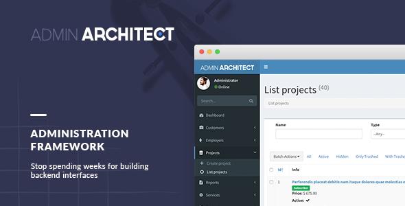 Admin Architect - Administration Framework for Laravel