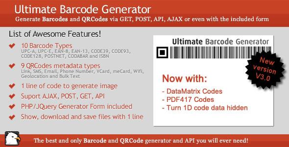 Ultimate Barcode Generator