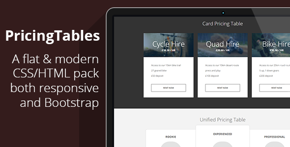 7 Responsive Flat Bootstrap Pricing Tables (Now with Color Picker)