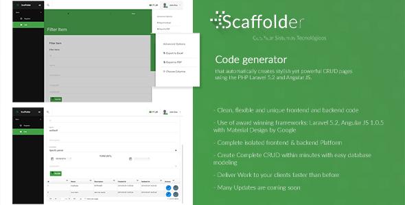 Scaffolder   A Powerful Laravel + Angular CRUD Generator