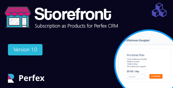 Products and services for Perfex CRM