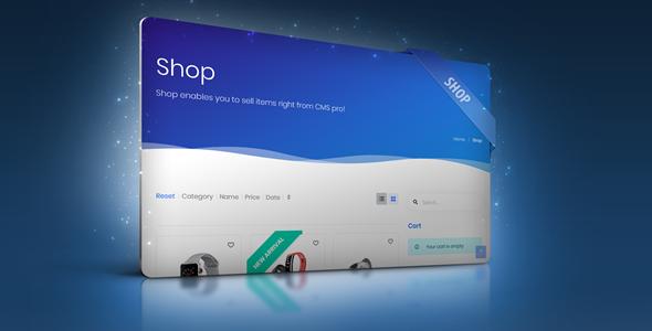 Shop Module for CMS pro