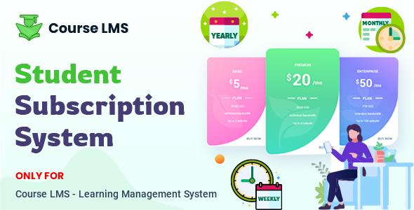 Course LMS Student Subscription addon