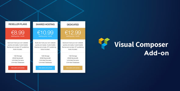 Pricing Table Responsive Addon for Visual Composer