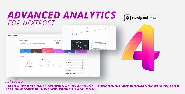 Nextpost Module: Advanced Analytics. Get daily Instagram reports and statistics