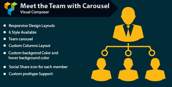 WPBakery Page Builder - Meet the Team with Carousel (formerly Visual Composer)