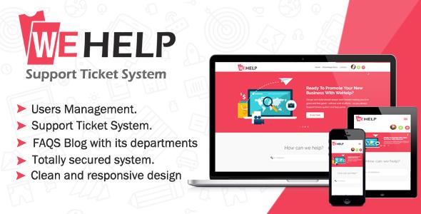 WeHelp - Ticket Support System