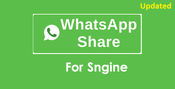 WhatsApp Share Addon For Sngine