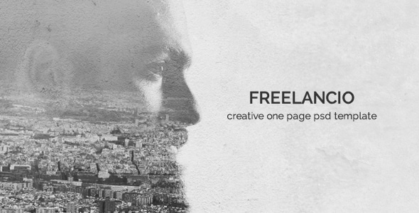 Freelancio - Creative One Page PSD Template