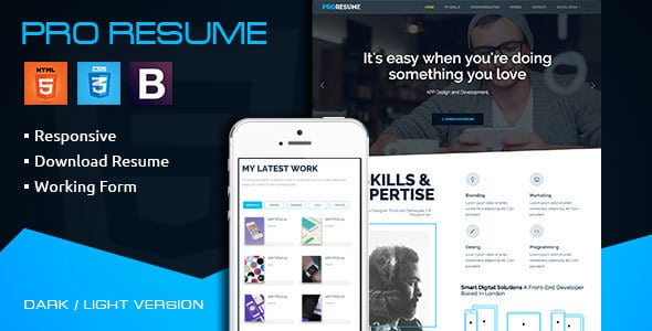 ProResume - CV Freelance Responsive Resume