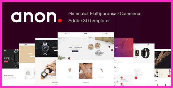 Anon - Minimalist Multipurpose eCommerce Adobe XD templates