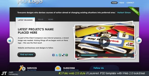#2 Folio web 2.0 style