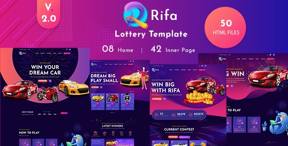 Rifa - Online Lotto & Lottery HTML Template