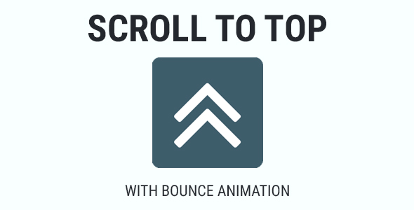 Scroll To Top - Bounce Animation