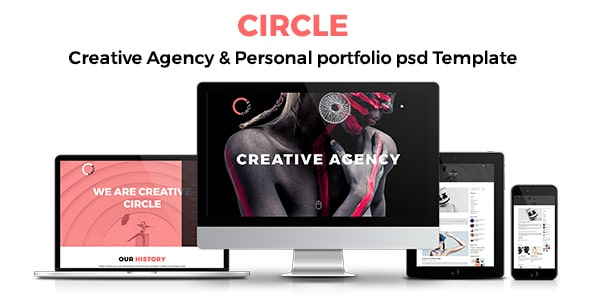 CIRCLE Creative Agency and Portfolio Template