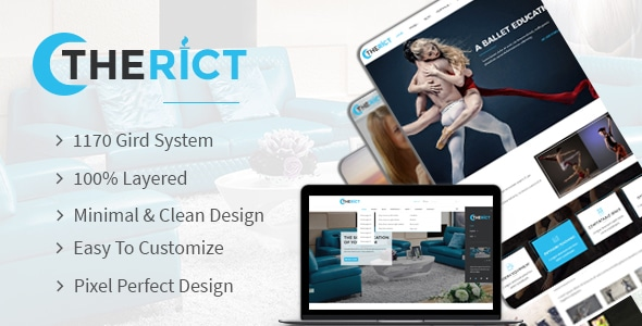 Therict - Multipurpose PSD Template