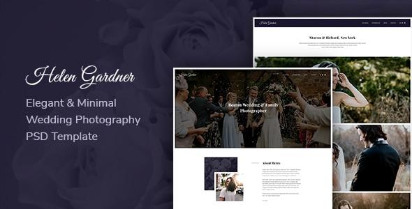 Helen - Elegant Wedding Photography PSD Template