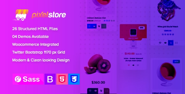 Pixelstore - eCommerce HTML5 Template