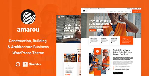 Amarou - Construction & Architecture WordPress Theme