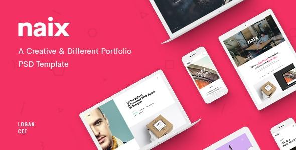 Naix - Creative Portfolio PSD Template