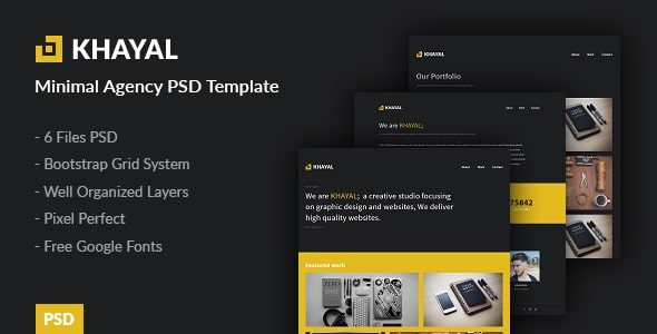 Khayal - Minimal Agency PSD Template