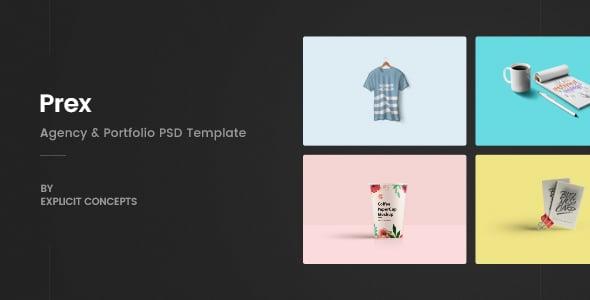 Prex   Creative Agency & Portfolio PSD Template