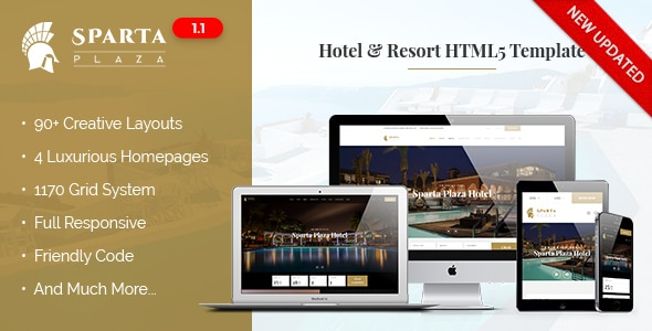 Sparta   Hotel & Resort HTML5 Template