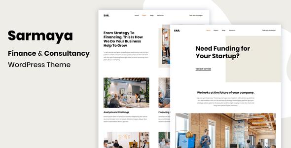 Sarmaya – Finance & Consultancy WordPress Theme