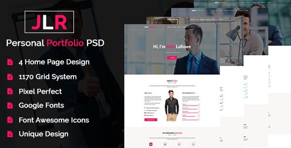 JohnLoRowe - Personal Portfolio PSD Template
