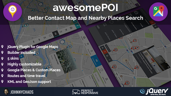 awesomePOI - Better Contact Map and Nearby Places Search jQuery Plugin