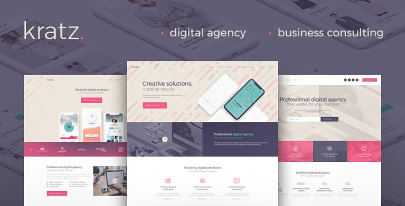 Kratz | Digital Agency Marketing and SEO WordPress Theme