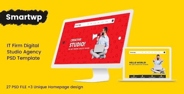 Smartwp - IT Firm digital studio Agency PSD Template