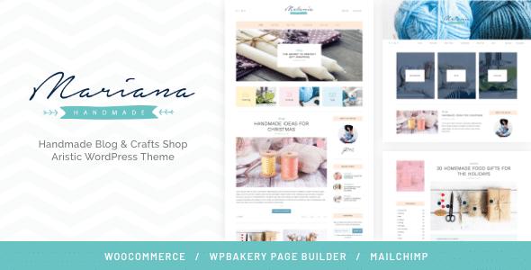 Melania   Handmade Blog & Crafts Shop Aristic WordPress Theme