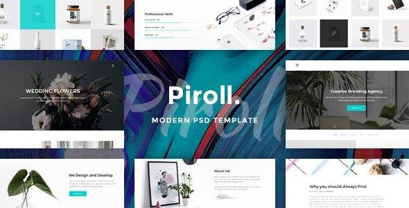 Piroll - Modern & Minimal Portfolio PSD Template