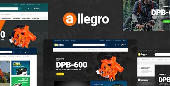 Allegro - WooCommerce WordPress Theme for Equipment Stores