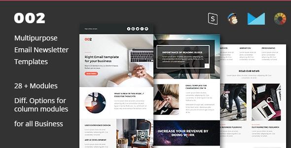 002 - Multipurpose Email Newsletter Template