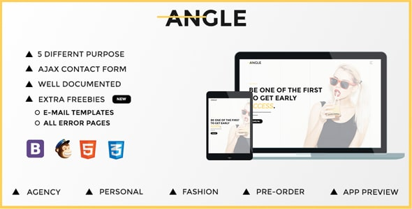 Angle | Responsive Coming Soon Template