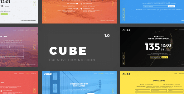 Cube - Creative Coming Soon Template