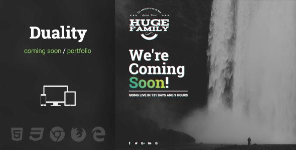 Duality - Responsive Fullscreen HTML Template