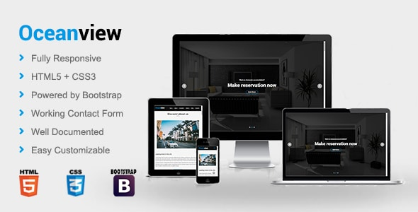 Oceanview - Hotel HTML Template
