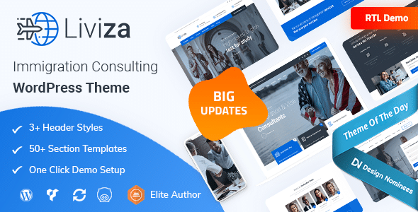 Liviza - Immigration Consulting WordPress Theme