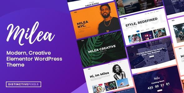 Milea - Flexible Creative WordPress Theme