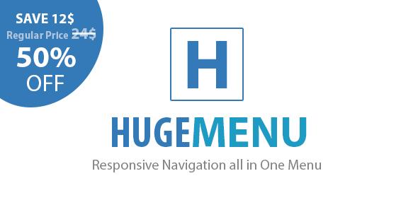 Huge Multipurpose Responsive Navigation Menu